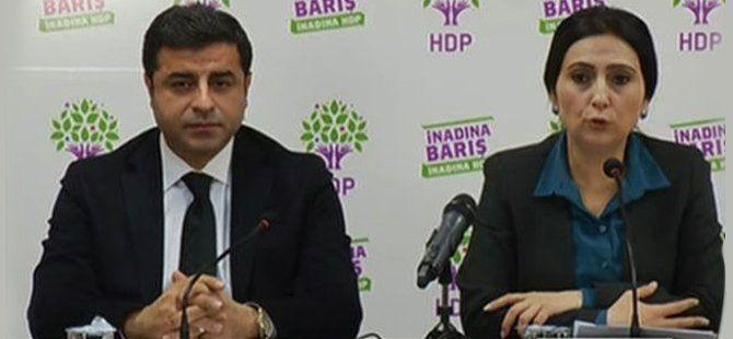HDP Eş Genel Başkanları Selahattin Demirtaş ve Figen Yüksekdağ Açıklama Yaptı