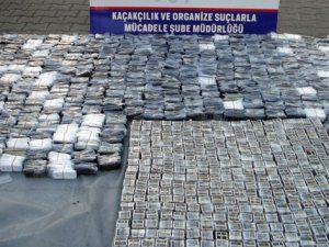 Diyarbakır Emniyet Müdürlüğü'nden Kaçakçılara 1 Milyon TL'lik Darbe