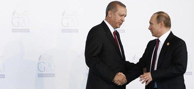 Cumhurbaşkanı Erdoğan ile Rusya Devlet Başkanı Vladimir Putin Bir Araya Geldi