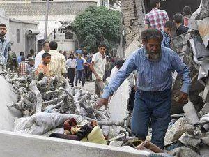 Rus Uçakları Suriye'nin Azez İlçesini Hedef Aldı: 15 Ölü