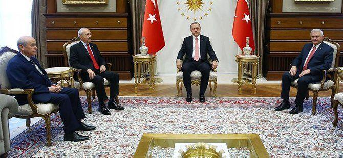 Cumhurbaşkanı Erdoğan Muhalefet Liderlerini Beştepe'de Ağırladı