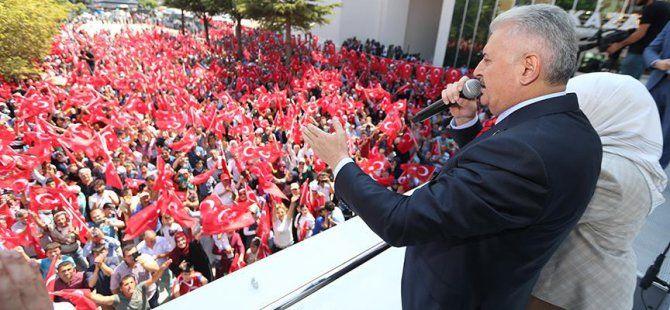 Başbakan Binali Yıldırım, Akıncı Üssü ve Darbeye Destek Veren Tüm Kışlaların Kapatılacağını Açıkladı