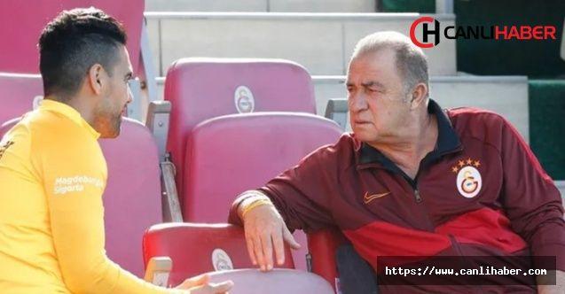 Fatih Terim ve Radamel Falcao'nun fotoğrafı Galatasaray idmanına damga vurdu