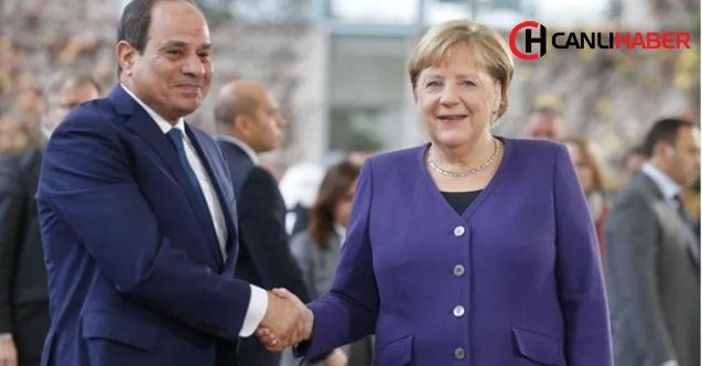 Almanya Başbakanı Merkel darbeci Sisi ile buluştu