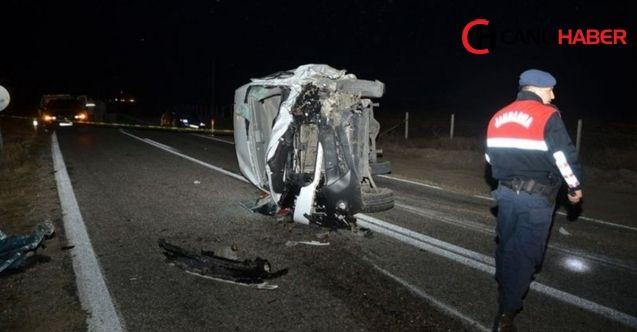Çorum'da feci trafik kazası 4 kişi öldü