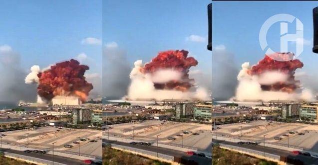 Lübnan'da Büyük Patlama 2 Km'lik Alan Yok Oldu