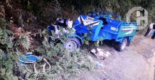 Bartın'da tarım aracı devrildi: 1 kişi hayatını kaybetti, 5 kişi ağır yaralı