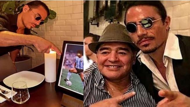 Nusret'ten Maradona'ya büyük jest Masasını rezerve etti