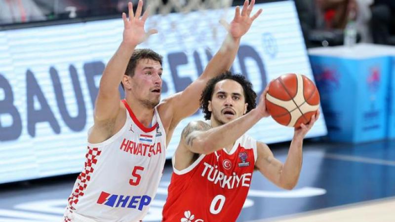 A Millilerden farklı mağlubiyet Hırvatistan Türkiye: 79-62