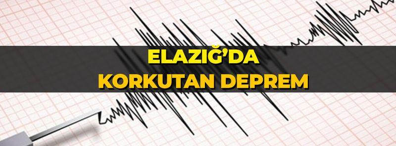 Elazığ'da son dakika 4,2 büyüklüğünde deprem! Çevre illerden de hissedildi