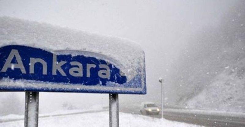 Ankara hava durumu 13 Ocak 2021! Ankara'da kar yağışı başladı