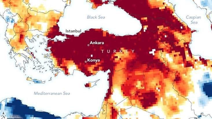 NASA Türkiye'yi uyardı! Türkiye'yi ciddi bir kuraklık bekliyor!