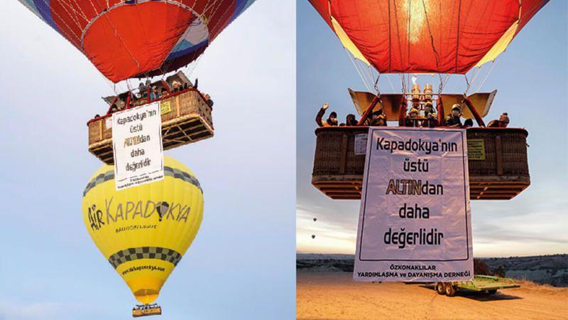 Kapadokya'da altın arama ruhsatı verildi! Halk mahkemeye koştu!