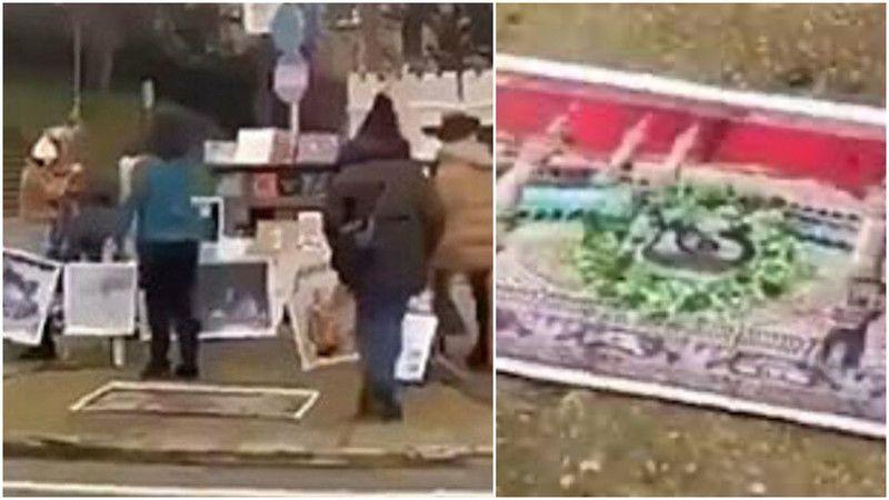 Kabe fotoğraflarının yere serilmesine AK Parti'den tepki!