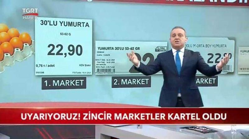 Yumurtada Fiyat Oyunu Yapan Marketler