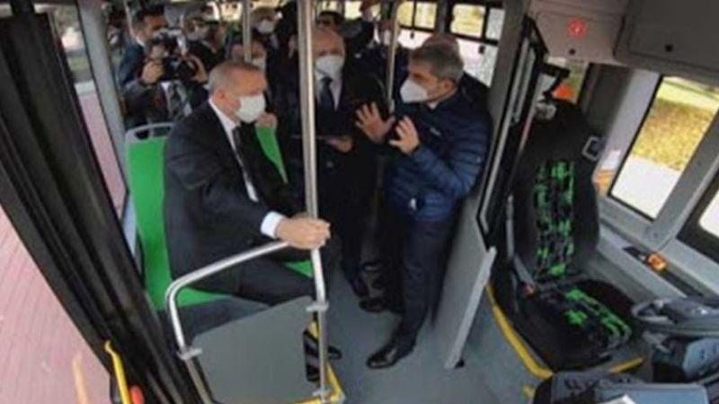İlk Elektrikli Sürücüsüz Otobüs Test Edildi