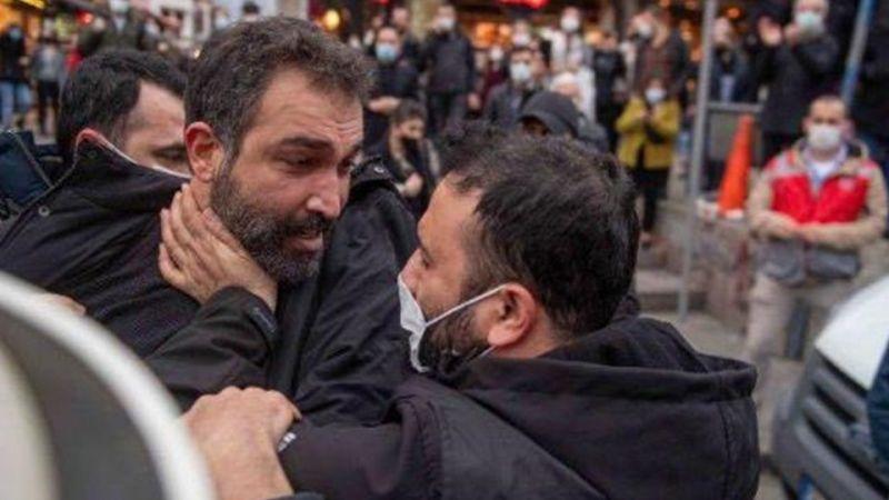 Barış Atay ve Polis Memuru Arasında Gerginlik