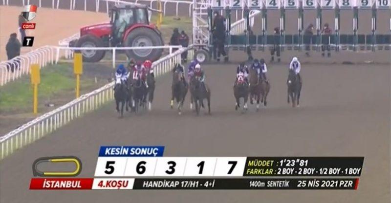 TJK canlı 25 Nisan 2021 İstanbul Adana at yarışı sonuçları! 25 Nisan altılı ganyan sonuçları