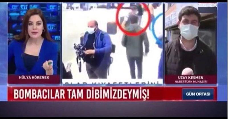 Otogar bombacıları patlayıcıyı adeta canlı yayında koymuş! Habertürk kameraları dakika dakika çekiyor