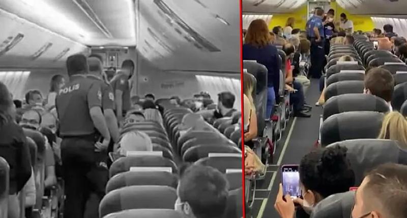 Taciz iddiası uçağı karıştırdı