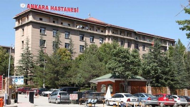 Ankara'da alkollü adam sinirlenince hastaneye arabayla girdi