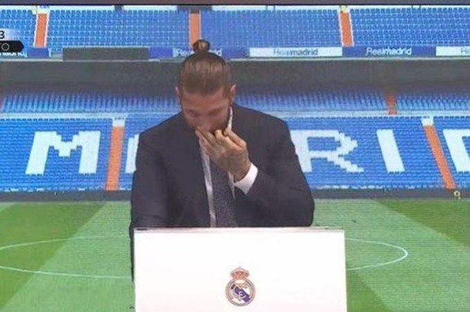 Ramos gözyaşları içinde Real Madrid'e veda etti