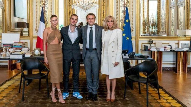 """Macron ve Bieber arasında """"bu gençlik nereye gidiyor"""" sohbeti"""