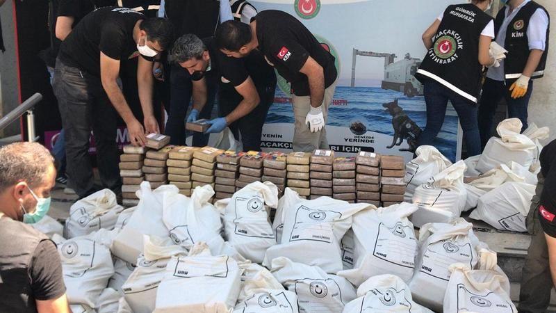 Ele geçirilen kokain toplam 1,763 Ton