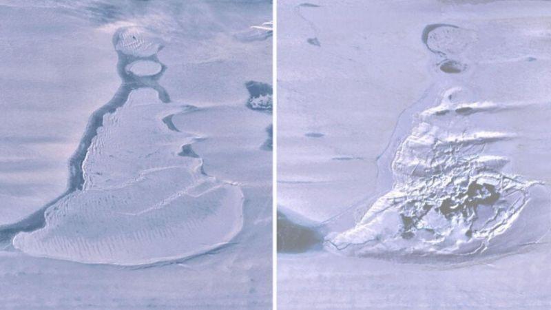 Antarktika'da devasa göl bir anda yok oldu