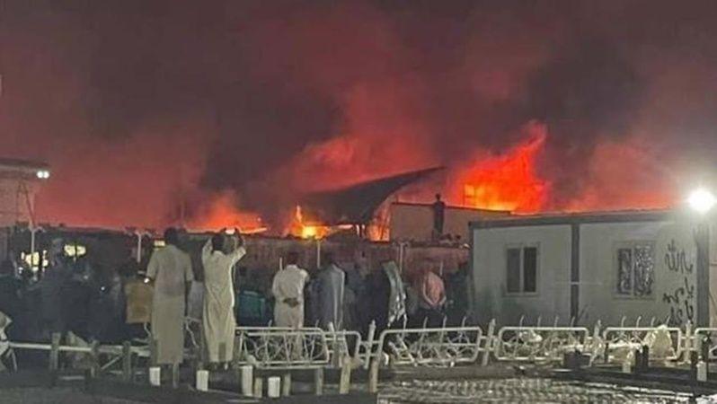 Irak'ta Korona Hastanesinde Yangın!