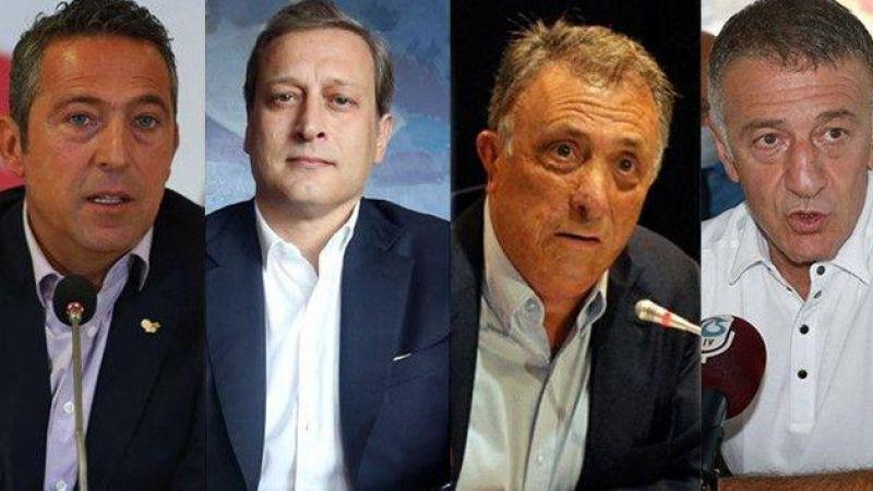 Dört büyük kulübün başkanları buluştu tarihi anlar yaşandı