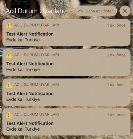 """iPhone kullanıcılarına """"Evde kal Turkiye"""" bildirimi"""