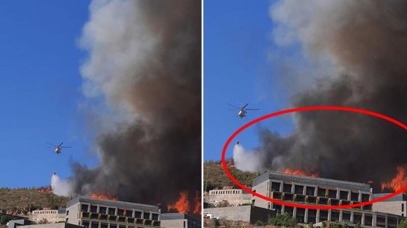Bodrum'daki yangında 5 yıldızlı otel alevlere teslim oldu