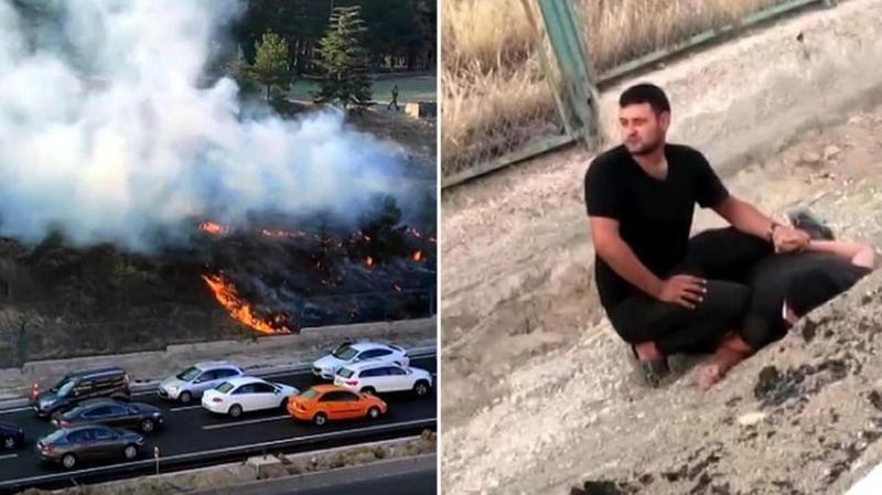Topçu ve Füze Okulu Komutanlığı'nda yangın çıkarmak isteyen zanlının serbest bırakılmasının ardından, itiraz sonrasında tutuklandı