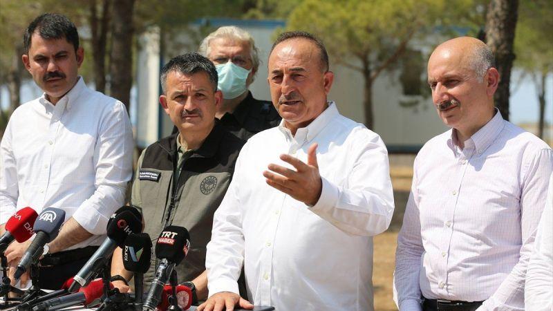 Antalya Büyükşehir Belediye Başkanı Muhittin Böcek'in yardım çağrısına, Mevlüt Çavuşoğlu'dan yanıt geldi