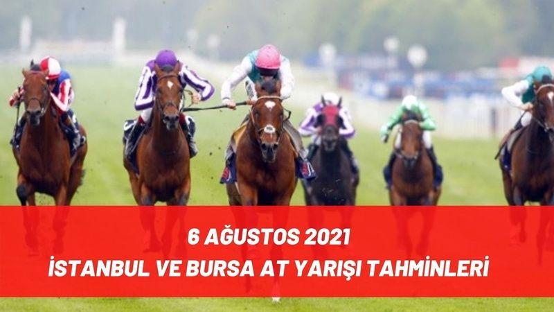 6 Ağustos 2021 İstanbul Bursa at yarışı tahminleri! 6 Ağustos 2021 ücretsiz banko altılı tahminleri