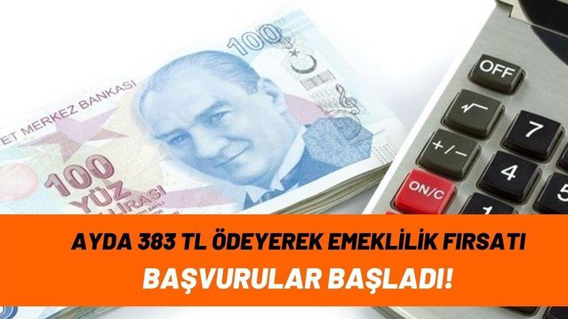 Emeklilik bekleyenlere müjde! Ayda 383 TL taksit ödeyerek erken emeklilik fırsatı başladı, başvuruları kaçırmayın!