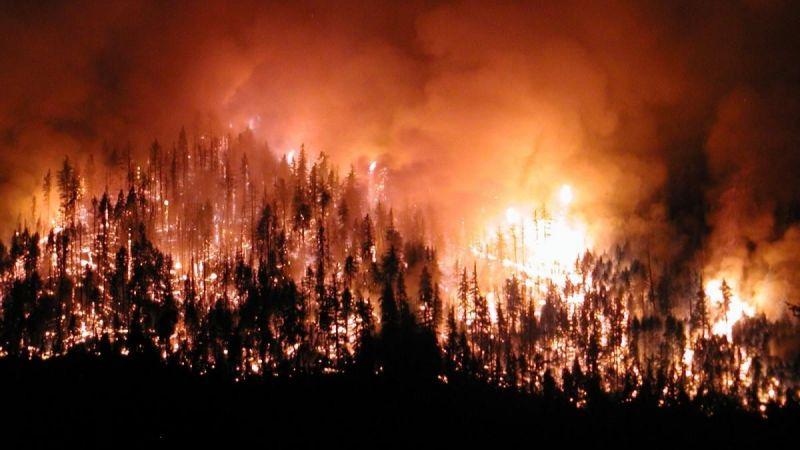 Yangın bölgelerinde bulunan bakanlar son durum hakkında bilgilendirmelerde bulundu