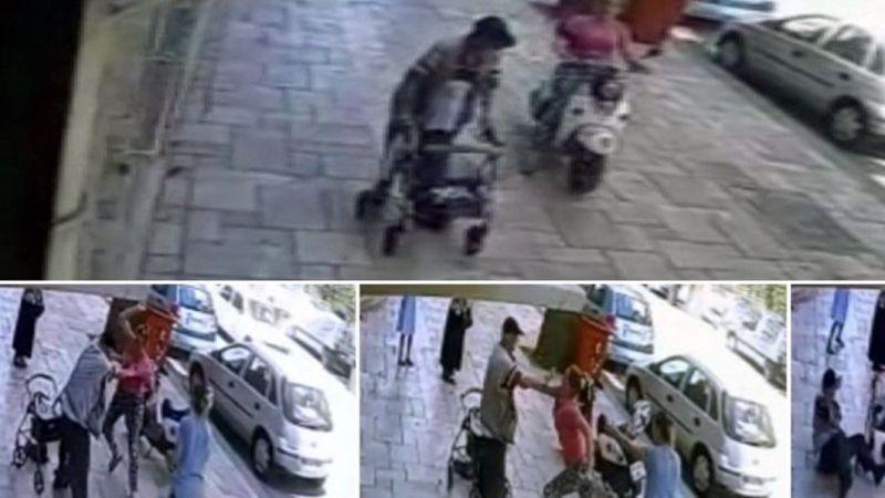 Yürütecinden düştü! Engelli adam kaldırımda motor kullanma dediği için saldırıya uğradı