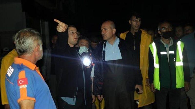 İçişleri Bakanı Soylu ve Bakan Kurum Kastamonu'da