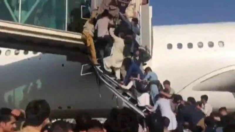 Afganistan'dan kaçış sürüyor! Taliban yönetiminden kaçmak isteyen halk havalimanına akın etti