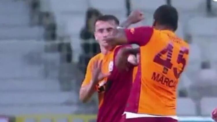 Giresunspor-Galatasaray maçında uygunsuz davranışlarda bulunan Marcao'dan özür geldi