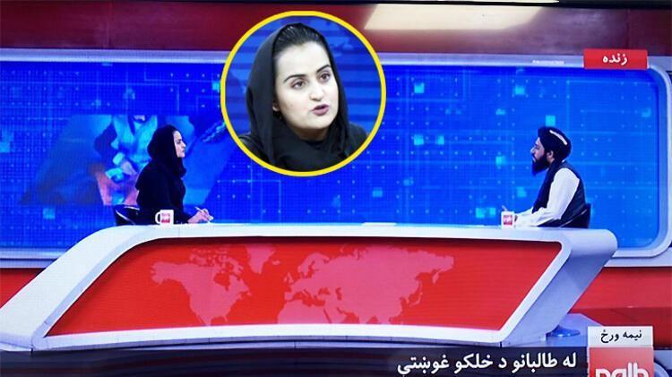 Afganistan'da bir ilk Taliban ilk kez bir kadının sunduğu programa katıldı!