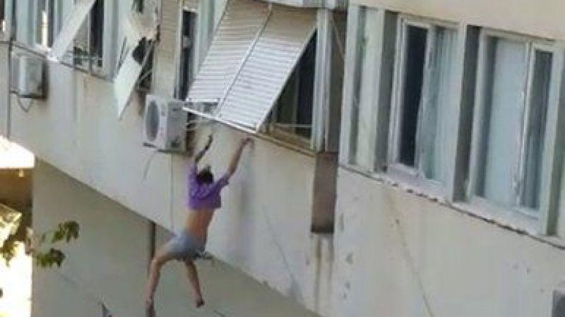 Rehin tutulduğunu iddia ettiği evin camından atladı
