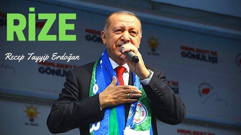 Cumhurbaşkanı Erdoğan memleketi Rize'de CHP'ye eleştirilerde bulundu