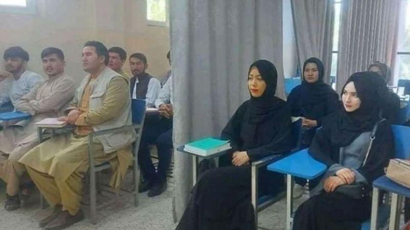 Afganistan'da eğitim perdeli olarak yeniden başladı!