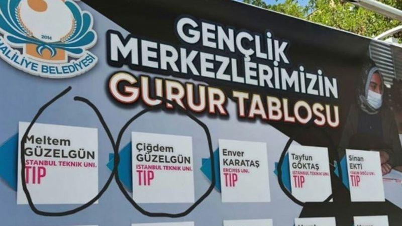 İTÜ Tıp Fakültesini kazan öğrencileri duyuran Haliliye Belediyesi afiş hakkında açıklamada bulundu