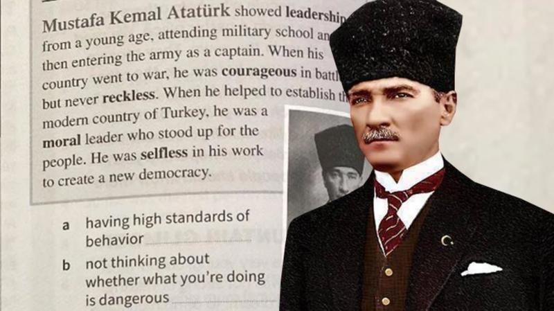 Güney Kıbrıs yönetimi ders kitaplarında Atatürk ile ilgili bulunan sayfaların yırtılması talimatı verdi