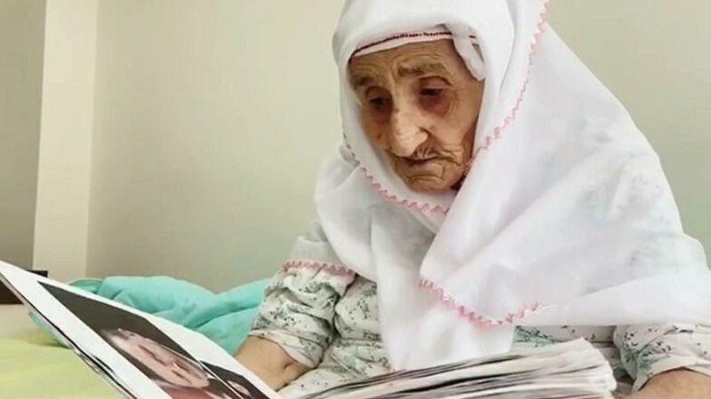 98 yaşındaki Sariye nine 15 yıldır Cumhurbaşkanı Erdoğan'ın fotoğraflarını biriktiriyor