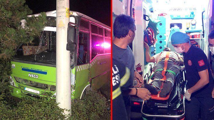 Kazanın ardından otobüs şoförü 'Borçlarım var, çalışmak zorundayım' diyerek ambulanstan inmek istedi